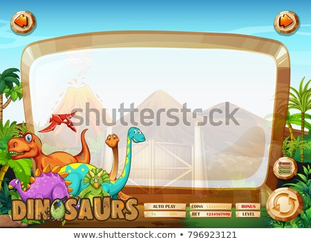 many dinosaur board game template stock photo © colematt