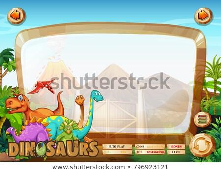 Many dinosaur board game template Stock photo © colematt
