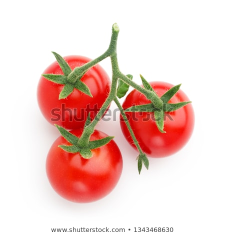 Clusters of cherry tomatoes, paths, top Stock photo © maxsol7