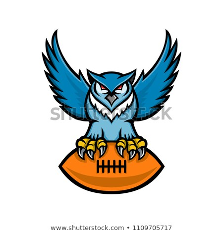 great horned owl american football mascot stock photo © patrimonio