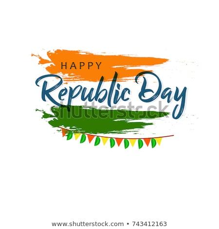 Mutlu cumhuriyet gün Hindistan satış afiş Stok fotoğraf © vectomart
