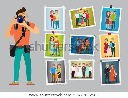 Photographer Advertising Poster with Works Samples Stock photo © robuart
