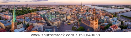 Panorama Riga şehir merkezinde Letonya sokak Stok fotoğraf © benkrut