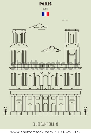 eglise saint sulpice in paris france stock photo © boggy