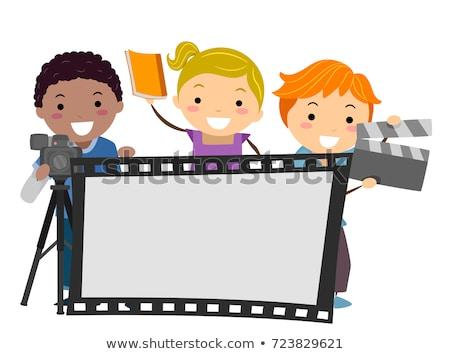 少年 · ドラマ · を見る · ステージ · 実例 · 芸術 - ストックフォト © lenm