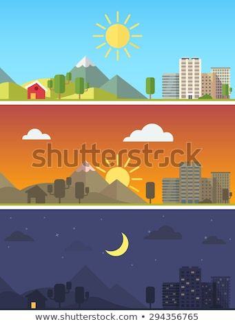 Farm scenes at different time of day Stock photo © colematt