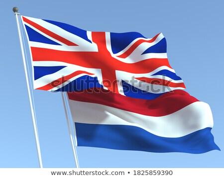 два флагами Соединенные Штаты Нидерланды изолированный Сток-фото © MikhailMishchenko