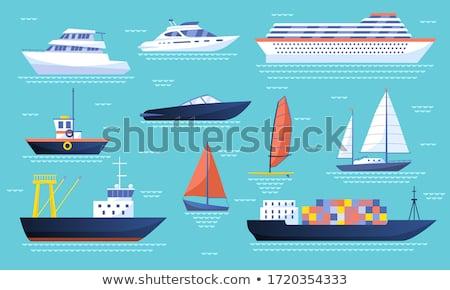 buque · de · vapor · vela · mar · diseno · metal · arte - foto stock © robuart