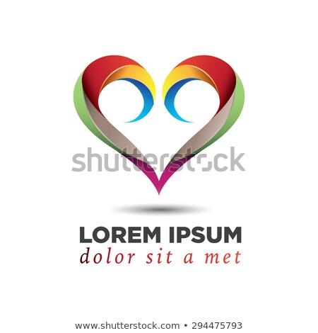 Rosso spirale cuore logo simbolo vettore Foto d'archivio © blaskorizov