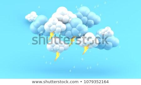 Pogoda ikona ciężki deszcz 3D 3d Zdjęcia stock © djmilic