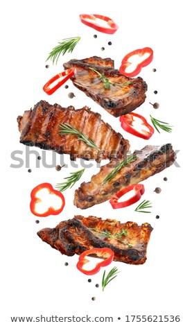 焼き · 野菜 · まな板 · 暗い · 石 · 表 - ストックフォト © grafvision