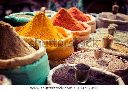 indio · comida · vegetariana · arroz · curry · mesa · de · comedor · alimentos - foto stock © boggy