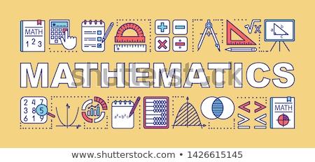 Woord ontwerp school wiskunde illustratie meisje Stockfoto © colematt