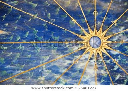 Viento aumentó símbolo espacio de la copia blanco azul Foto stock © make