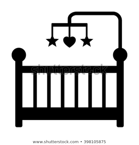 Baby Wiege Symbol Farbe Design Haus Stock foto © angelp