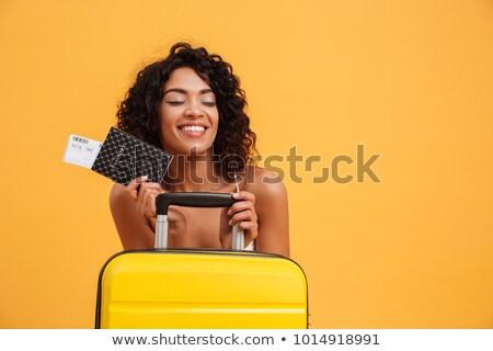 Portret zadowolony młodych Afryki portret kobiety kobieta Zdjęcia stock © deandrobot