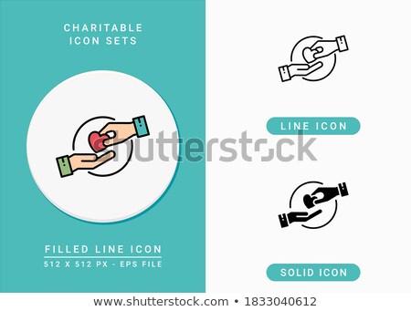 liefdadigheid · lijn · ontwerp · moderne · vector - stockfoto © anna_leni