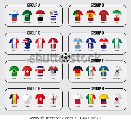 Voetbal uniform icon stencil ontwerp sport Stockfoto © angelp