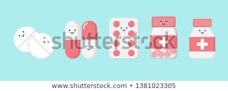 vector set of medicine cartoon stock photo © olllikeballoon