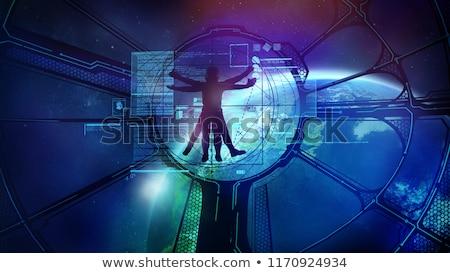 Uzay istasyon yörünge astronot görmek pencere Stok fotoğraf © ConceptCafe