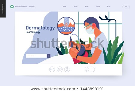 Digital vector woman skin care cosmetics stock photo © frimufilms