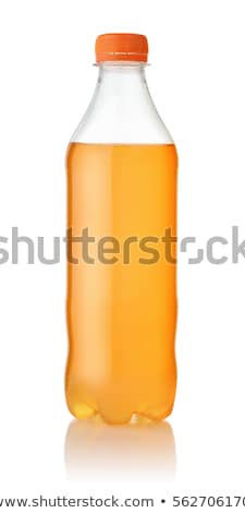 szénsavas · citromsárga · üdítőital · műanyag · üveg · kettő - stock fotó © albund