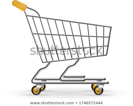 shopping cart side view 3d illustration stock photo © dragoneye