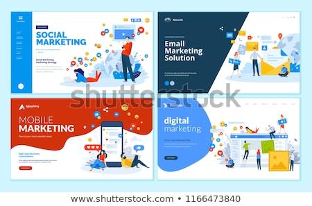 Social media marketing landing page template. Stock photo © RAStudio