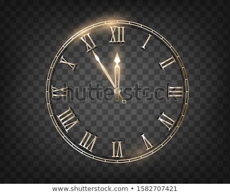 будильник двенадцать праздник серебро блеск Рождества Сток-фото © artjazz