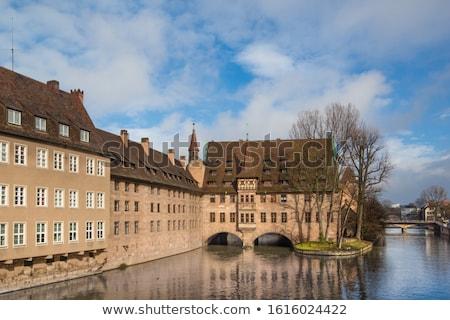Ziekenhuis heilige geest Duitsland rivier avond water Stockfoto © borisb17