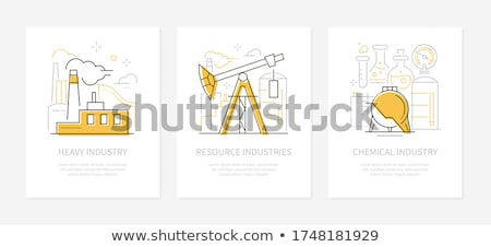 Fabrication ligne design style bannières Photo stock © Decorwithme