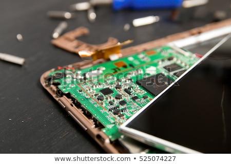 プロセス pc タブレット 修復 ストックフォト © Illia