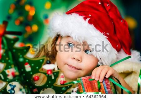 Allegro Natale persone pino vettore Foto d'archivio © robuart