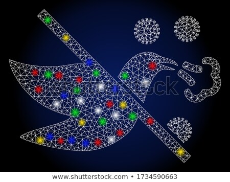 синий птиц мозаика эффект природы фон Сток-фото © shawlinmohd