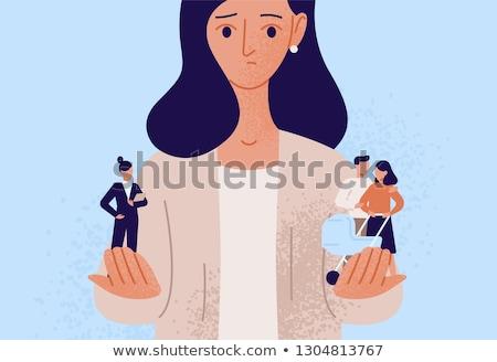 Kadın kariyer aile hayatı profesyonel kişisel hayat Stok fotoğraf © vectorikart