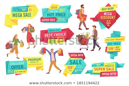 Hot Sale, Premium Quality of Products, Woman Offer Stock photo © robuart