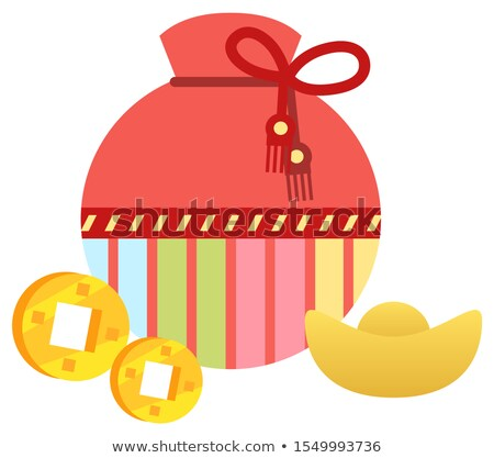 Fortune Bag with Cookies and Golden Coins Vector Stock photo © robuart