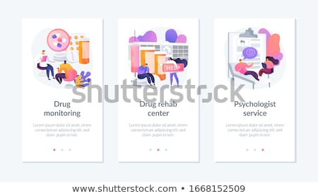 Addiction treatment vector concept metaphors. Stock photo © RAStudio