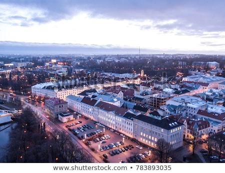 Városháza Észtország ülés város kormány tér Stock fotó © borisb17