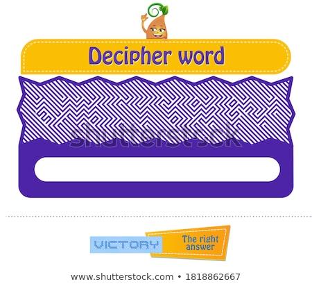 iq decipher word brainteaser Stock photo © Olena