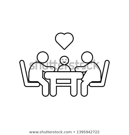 Trattativa tavola icona vettore contorno illustrazione Foto d'archivio © pikepicture