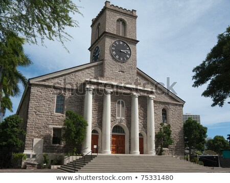 Historic Kawaiahao Church, Honolulu's oldest Christian church Stock photo © ShustrikS