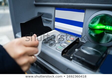 Wearing Using ATM With Contactless Tool Stock photo © AndreyPopov