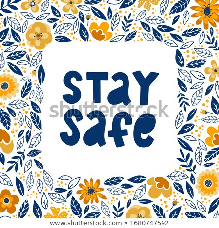 Poster design for coronavirus theme with word stay home Stock photo © bluering