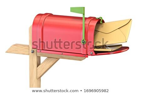 メールボックス フラグ アップ フル 3D 3dのレンダリング ストックフォト © djmilic