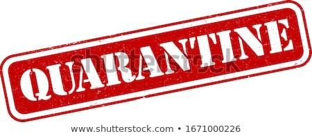 Red virus hazard sign with CORONAVIRUS text Stock photo © alessandro0770