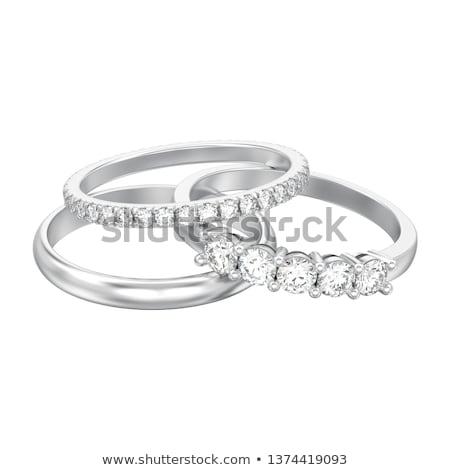 Three different diamonds on white background Stock photo © oneo