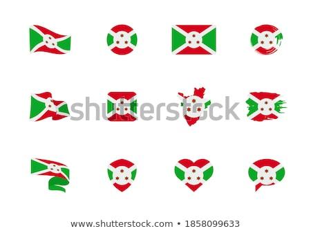 National flag of the Burundi in the shape of a heart and the inscription I love Burundi. Vector illu Stock photo © butenkow