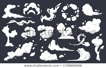 Cartoon explosion effect with smoke. Comic boom effect, explode flash, bomb comic, vector illustrati Stock photo © designer_things