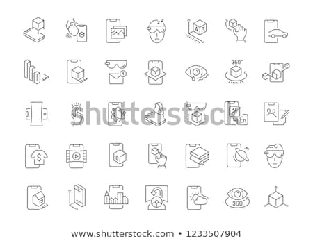 Simulation Equipment Isometric Icons Set Vector Stock photo © pikepicture